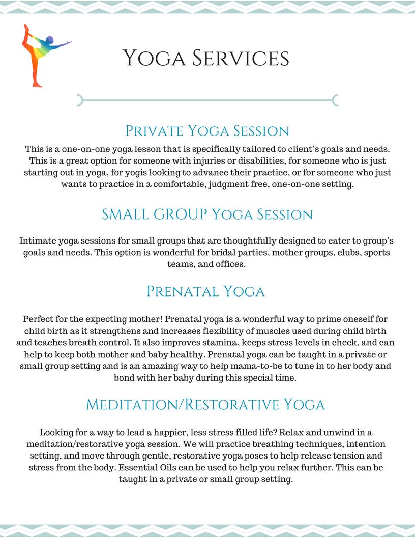 Yoga & WellnessServices
